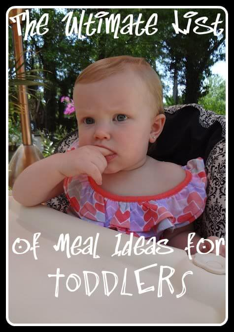 The Ultimate List Of Meal Plans For Toddlers