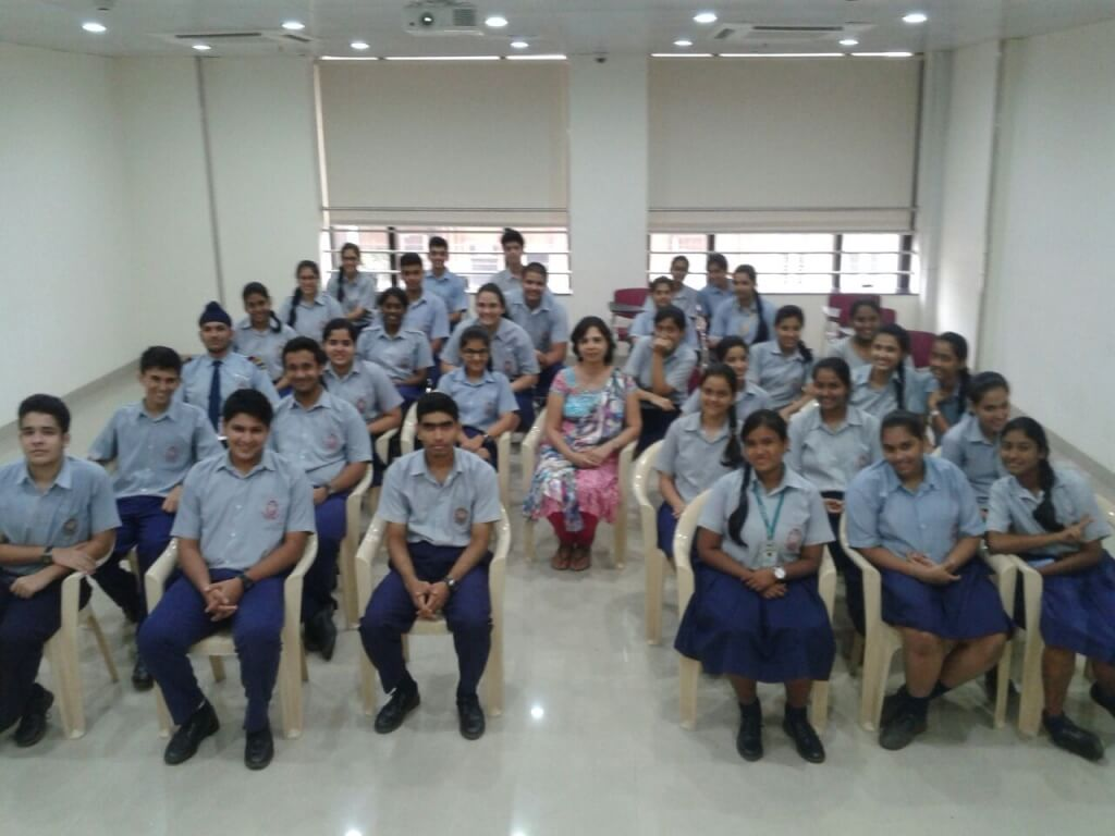 A career development session with students of Navy School Colaba