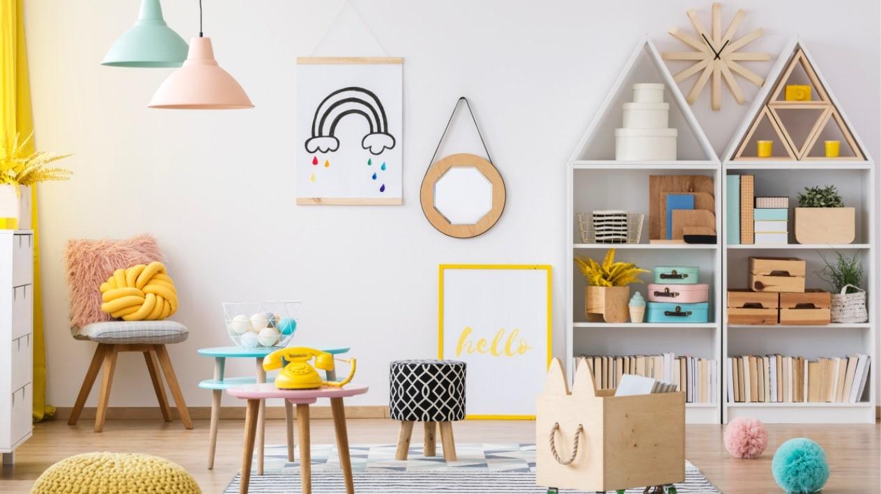 design a beautiful kids playroom at home