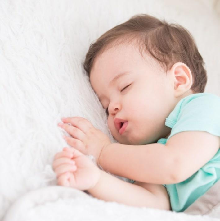 making good sleep habits for teething baby