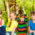 Five kids excited for a summer camp