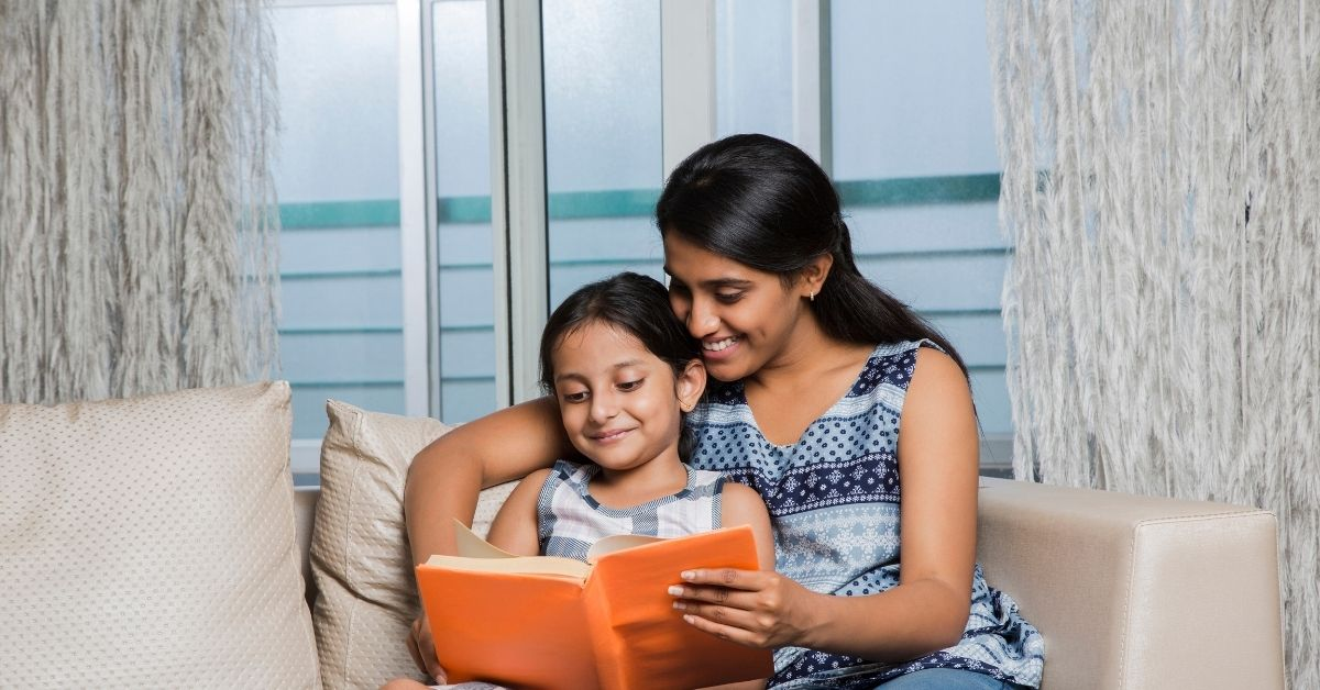 home reading with child