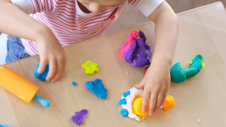 playdough is a great sensory development tool