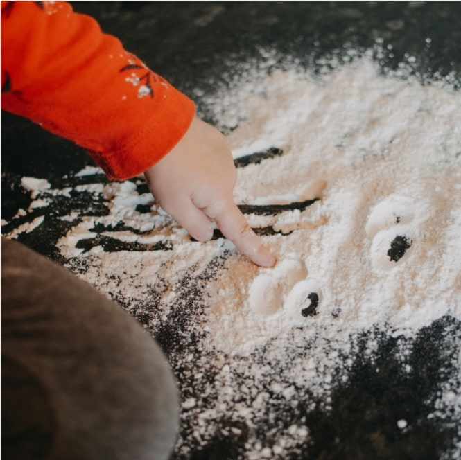 sand play for sensory development