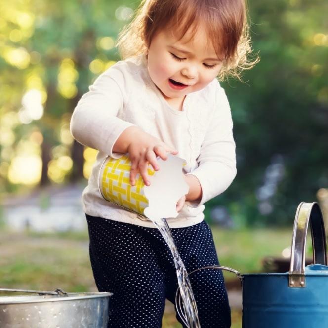 water sensory play to enhance child development