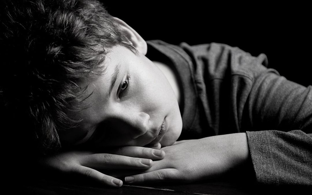 A child experiencing depression