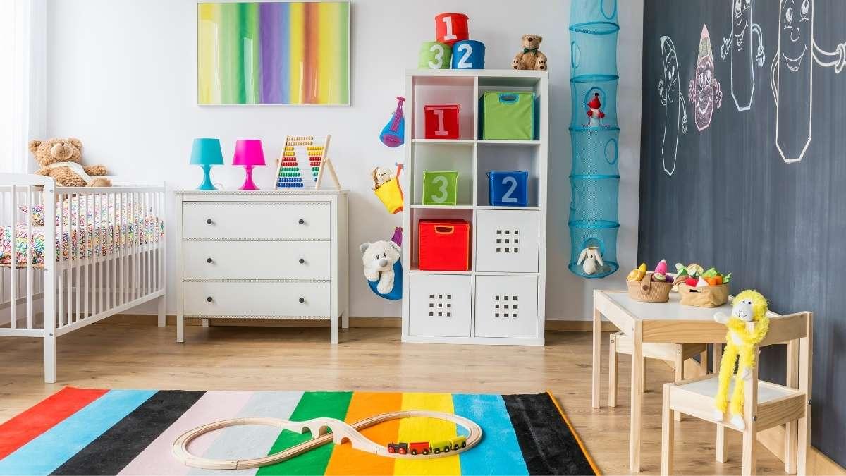 An indoor baby play area