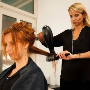 Mobile hair styling for new mum melbourne