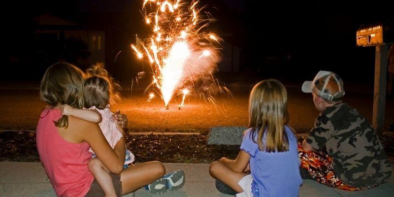 keep children away from fireworks