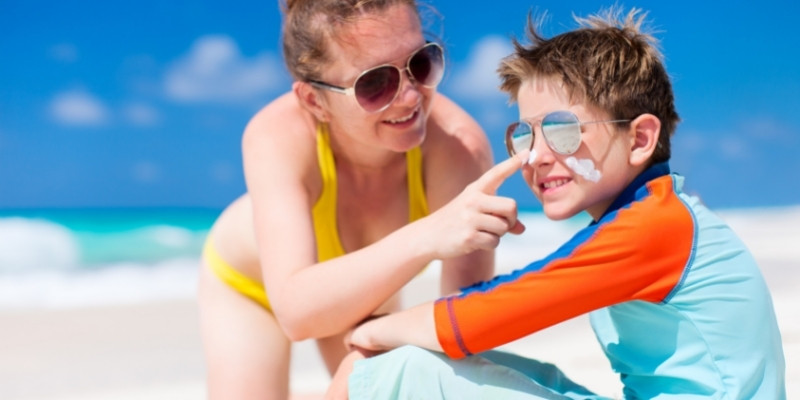 sun safety for kids on summer