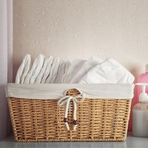 organise your diaper station