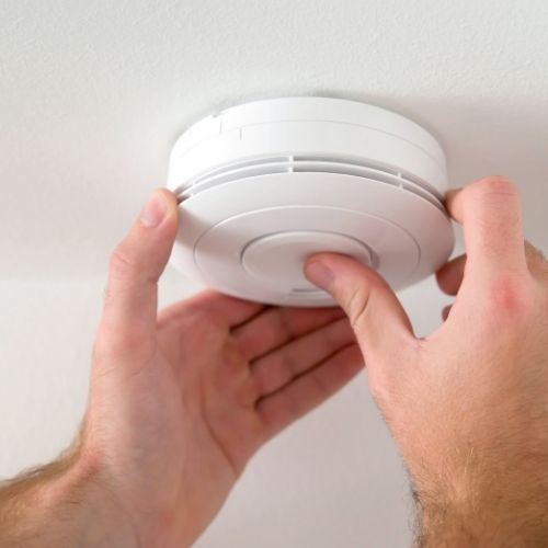 install smoke alarm at home for a fire safe family